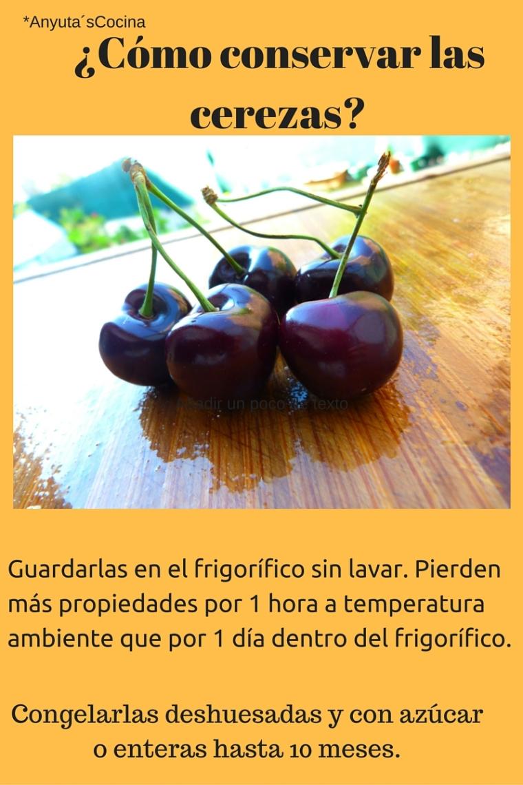 como guardar cerezas